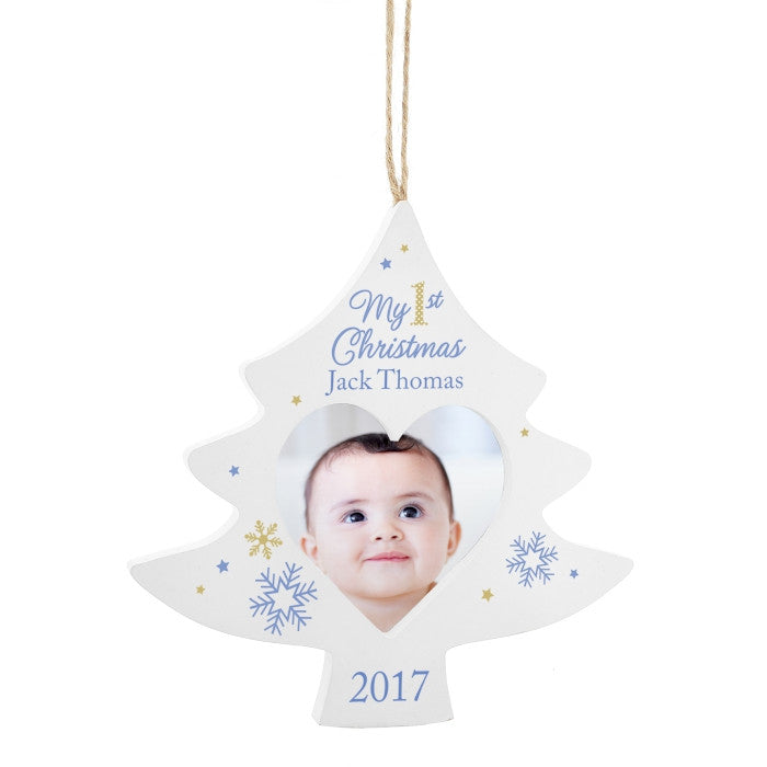 Personalised My First Christmas Decoration (Baby Boy) - The Simply Small Company