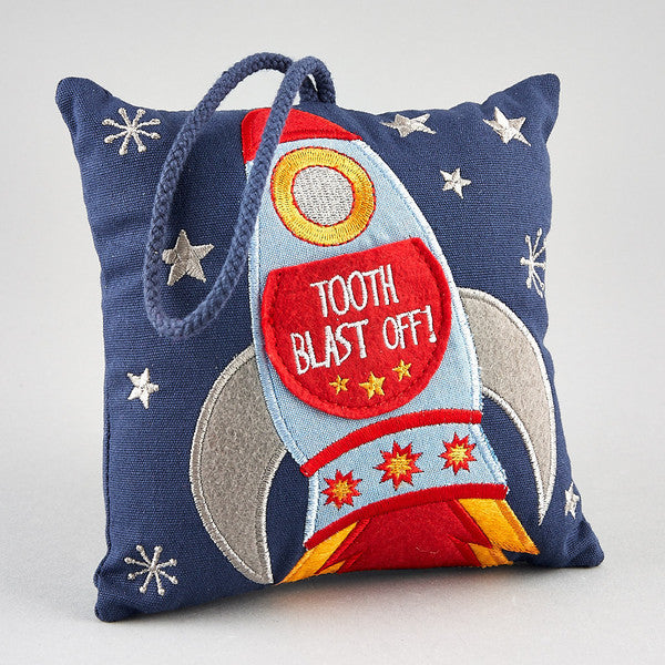 Tooth Fairy Cushion: Tooth Blast Off! - The Simply Small Company