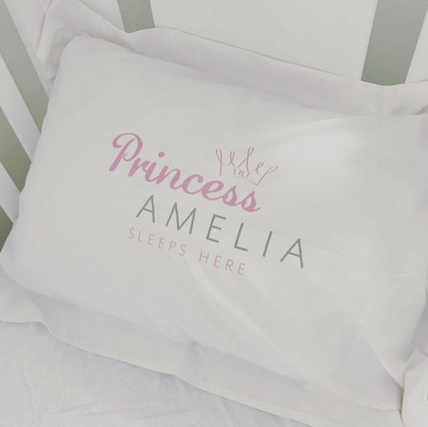 Personalised Princess/Prince Pillowcase - The Simply Small Company