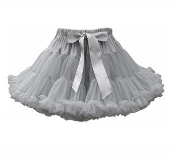 Pale Grey Bob & Blossom Tutu/Party Skirt - The Simply Small Company