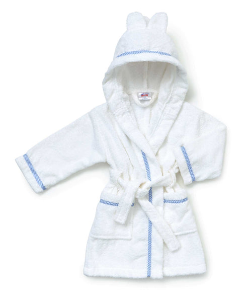 Personalised Baby & Toddler Bathrobe/Dressing Gown (Blue) - The Simply Small Company