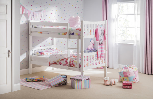 Zodiac White Wooden Bunk Bed - The Simply Small Company