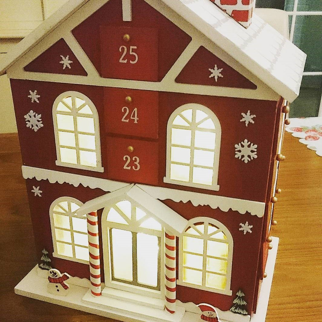 Wooden Advent Calendar House with Lights (STORE COLLECTION ONLY) - The Simply Small Company