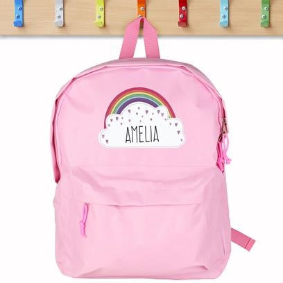 Personalised Rainbow Back Pack (Pink)