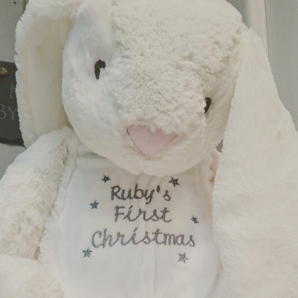 Baby's First Christmas Personalised Bunny