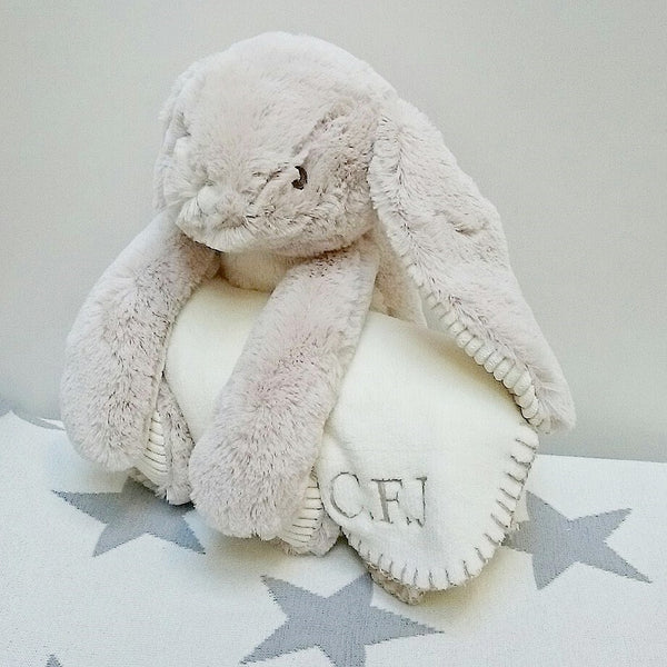 Personalised Bunny With Blanket - The Simply Small Company