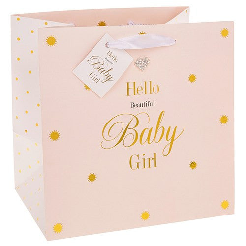 Hello Beautiful Baby Girl Gift Bag (Medium) - The Simply Small Company