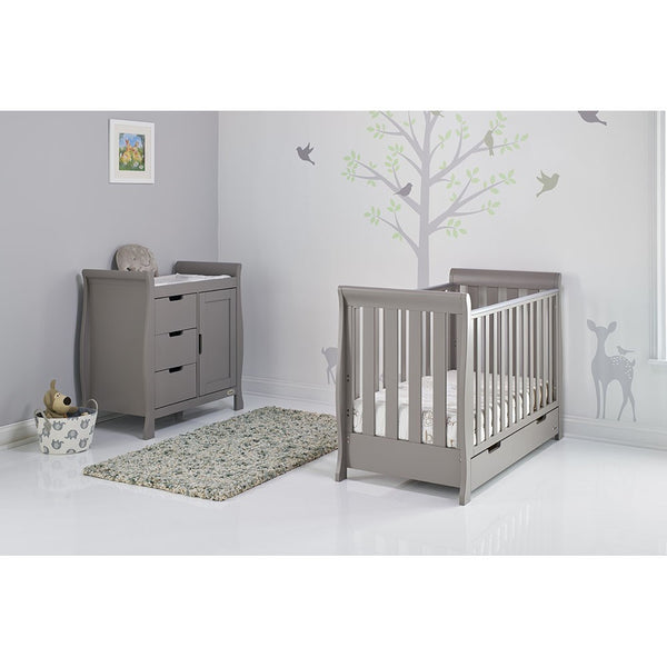 Stamford Grey Two Piece Nursery Room Set Featuring Mini Cot Bed - The Simply Small Company