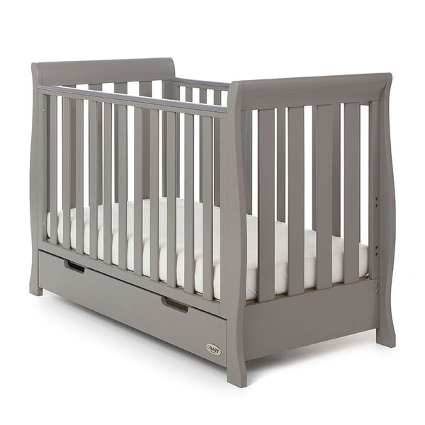 10% OFF RRP and FREE DELIVERY  Stamford Mini Sleigh Cotbed in Grey