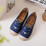 CUTE CAT CANVAS LOAFERS