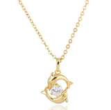 Dolphin 18K Gold Plated Crystal Necklace/Ring/Earrings LIMITED!