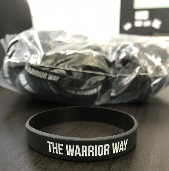 The Warrior Way Rubber Wristband (Pack of 3)