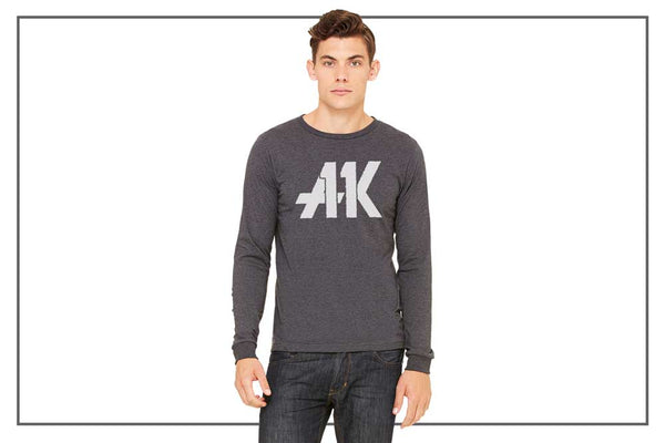 AK11 Dark Gray Long-Sleeved Jersey Tee