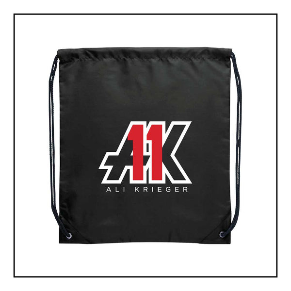 AK11 Black Drawstring Bag