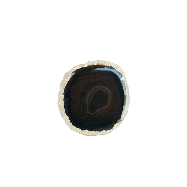 Silvery Edged Black Agate