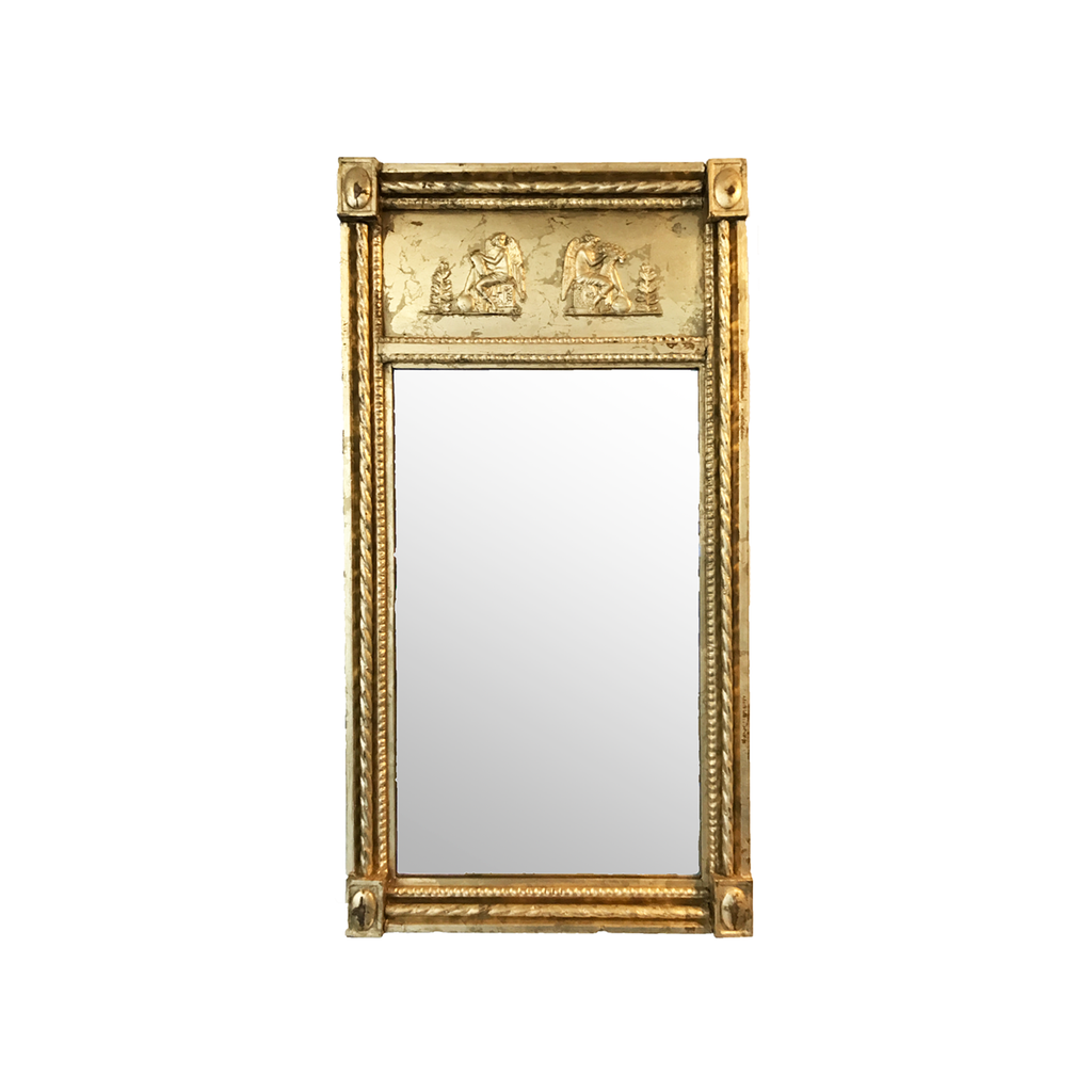 Gold Plated Wooden Empire Mirror