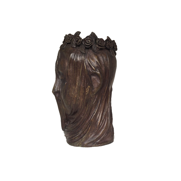 Bronze Vase of Bride with Vale