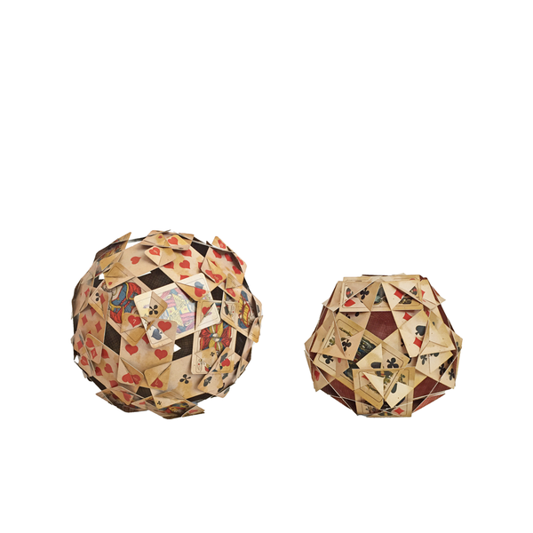 Polyhedron of playing cards