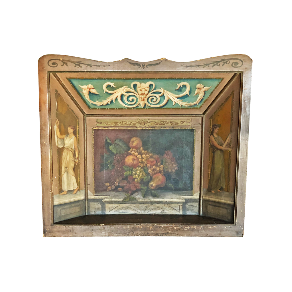 Decorative Hand-painted Fireplace Guard screen