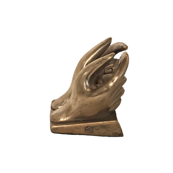 Solid Bronze Hands 'T'