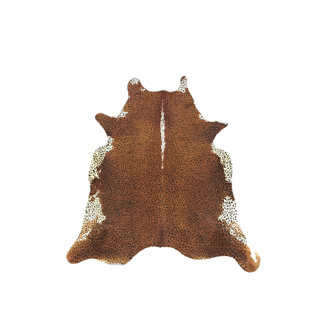 Cowhide with Leopard print