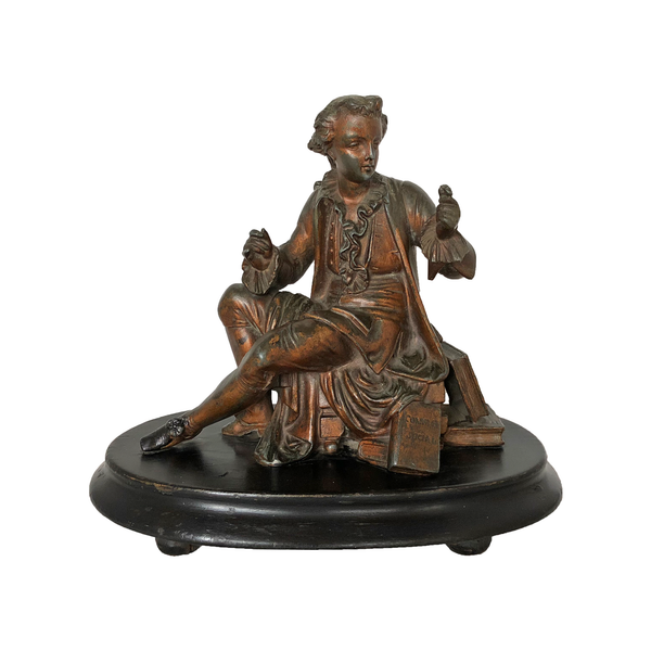 Antique Bronze Figure of Jean-Jacques Rousseau