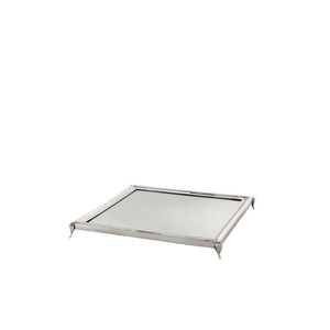 Silver Square Tray with Mirror