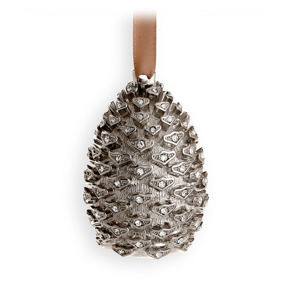 Pinecone Ornament - Platinum
