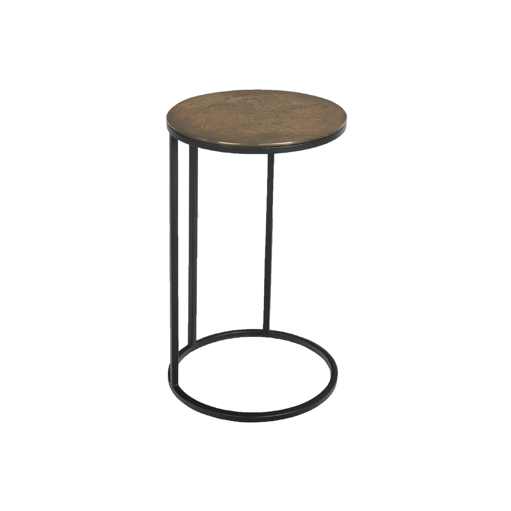 Round Iron Side Table