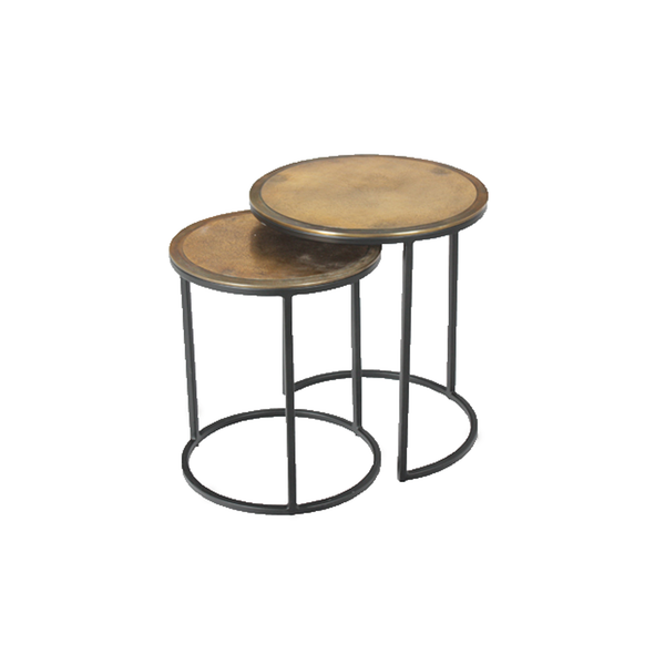 Round Nesting Tables - Set of 2