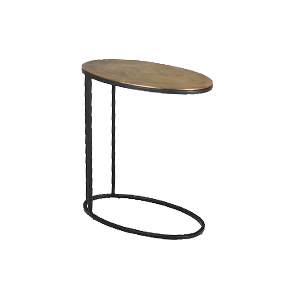 Oval Iron Side Table