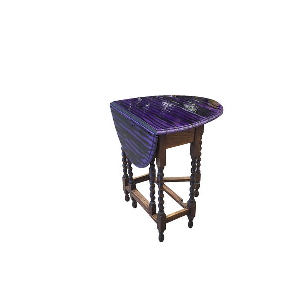 Purple Oval Side Table