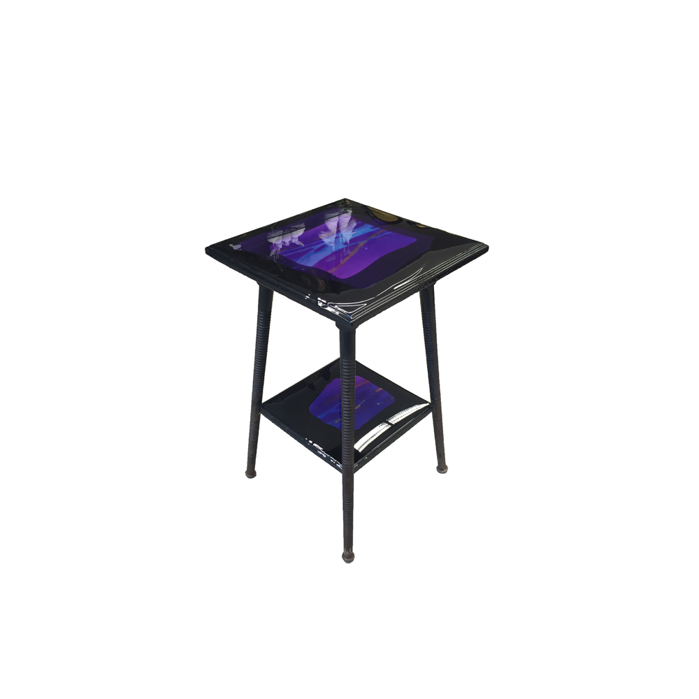 Purple Square Side Table