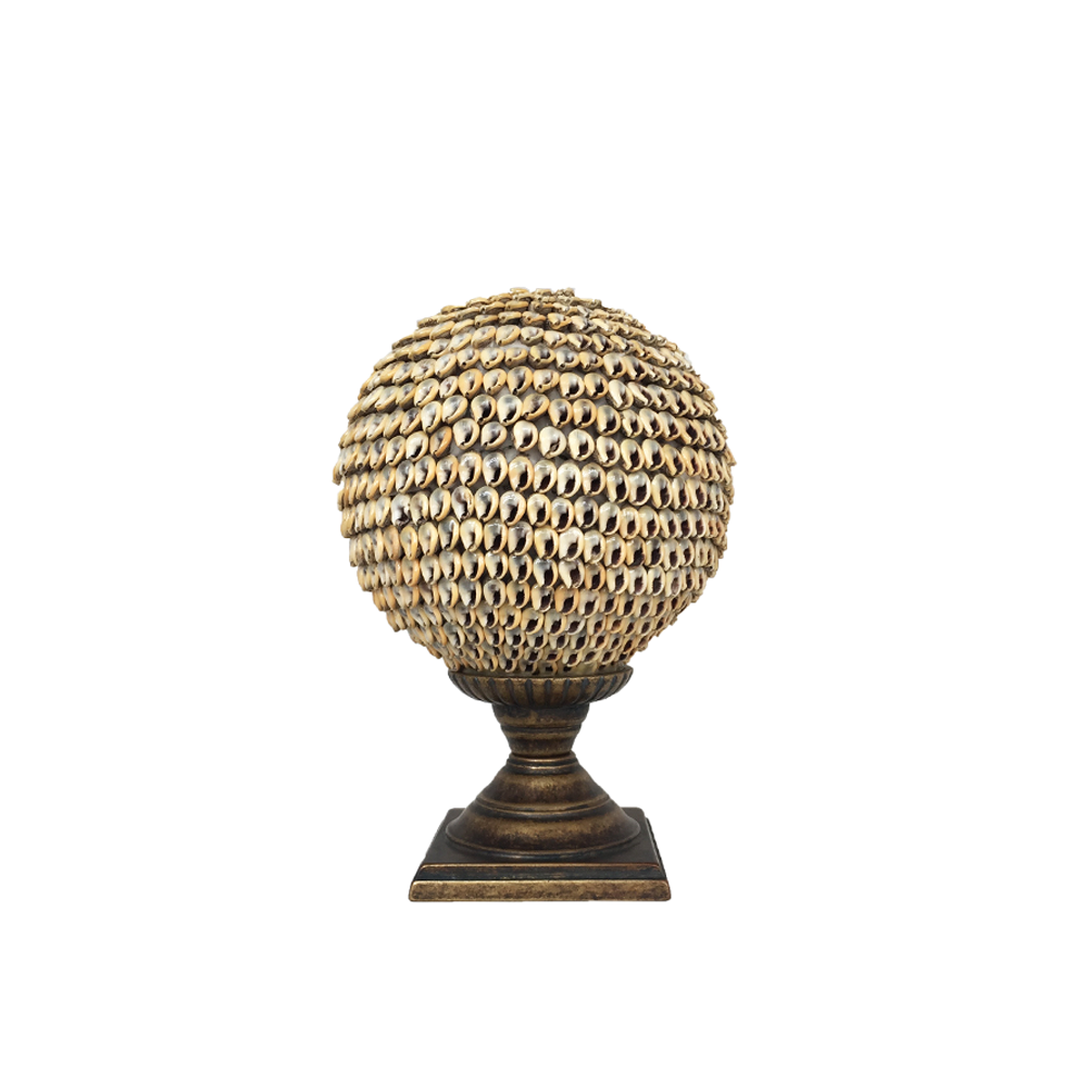 Nassarius Shell Ball on Brass Stand