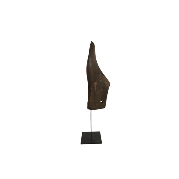 Wooden Shoe on Metal Stand