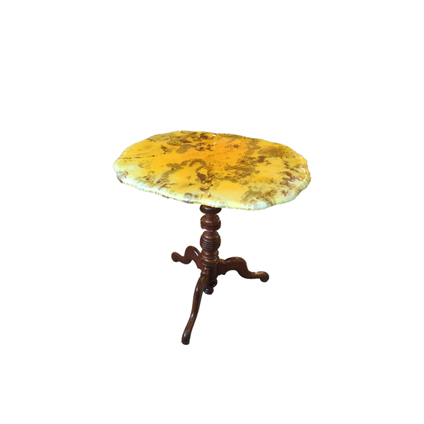 Yellow Ovalish side table