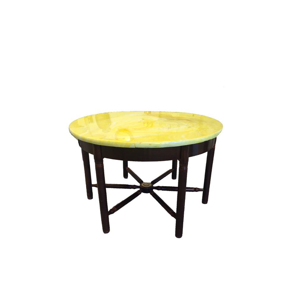 Yellow Round Side Table