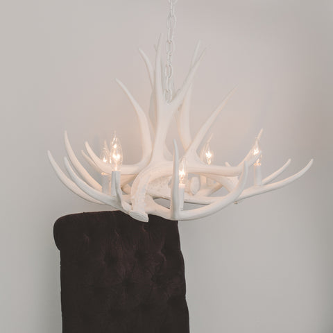 White Antler Chandeliers