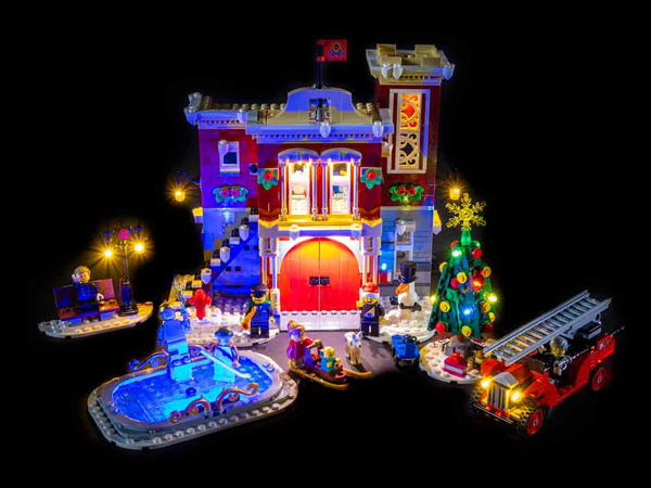 LEGO Winter Village Fire Station 10263 Light Kit (LEGO Set Are Not Included ) - My Hobbies