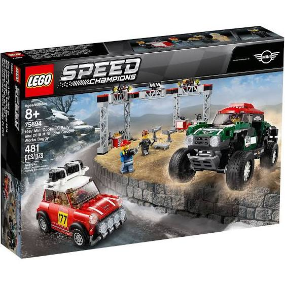 LEGO® 75894 Speed Champions 1967 Mini Cooper S Rally and 2018 MINI John Cooper Works Buggy