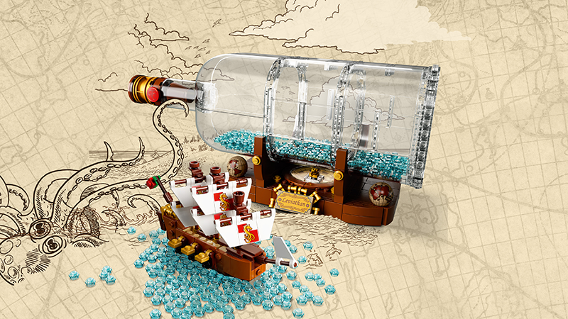 LEGO® 92177 Ideas Ship in a Bottle - My Hobbies