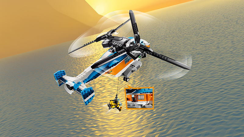 LEGO® 31096 Creator 3-in-1 Twin-Rotor Helicopter - My Hobbies