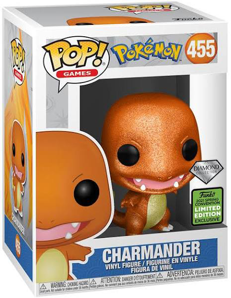 Pokemon - Charmander Diamond Glitter Pop! Vinyl Figure (2021 Spring Convention Exclusive) - My Hobbies