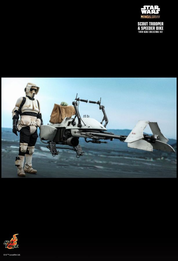 Hot Toy Star Wars: The Mandalorian - Scout Trooper & Speeder Bike 1:6 Scale Action Figure Set - My Hobbies