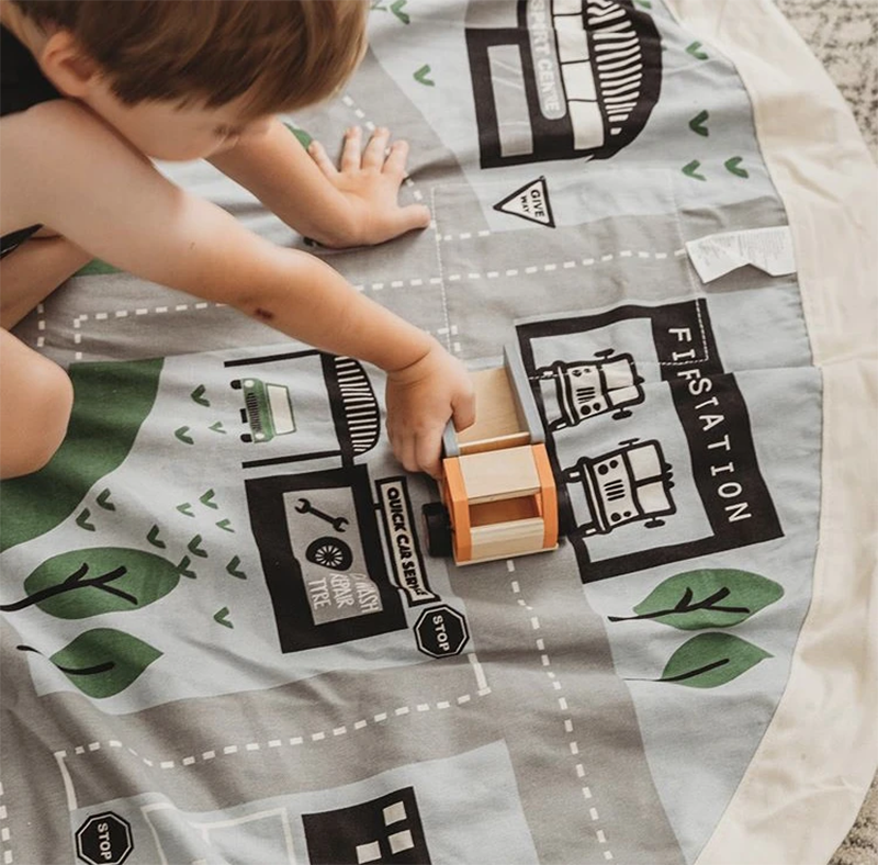 Wow Town Track Printed Play Pouch - My Hobbies