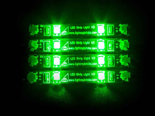 LED Strip Lights - Green (4 pack) - My Hobbies