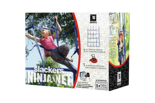 Slackers - Climbing Cargo Net for Kids Ninja Net Climbing Swingset Polyester Rope Ladder for Jungle Gyms Playground - My Hobbies
