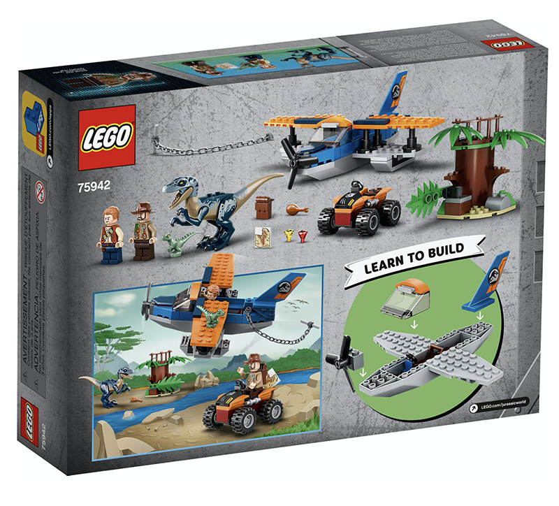 LEGO® 75942 Jurassic World™ Velociraptor: Biplane Rescue Mission - My Hobbies
