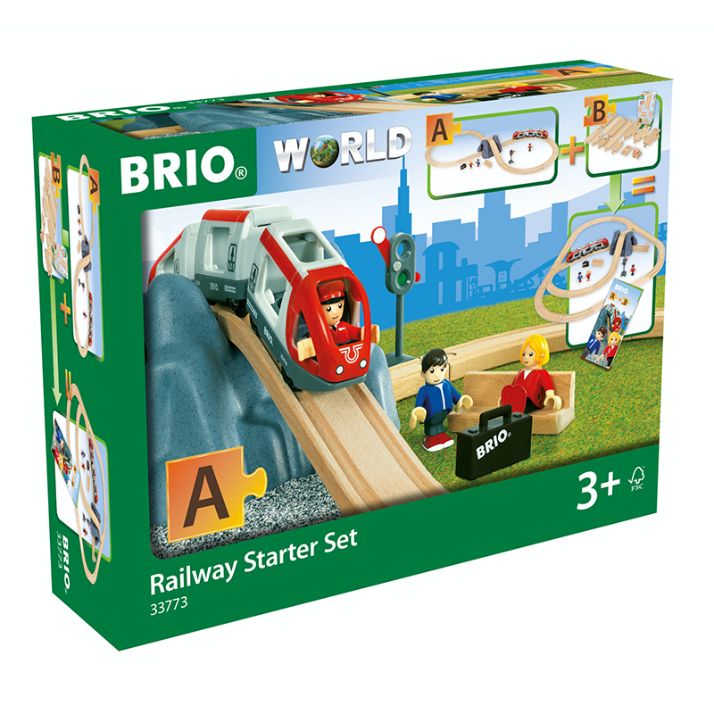 "BRIO Set - Railway Starter Set ""A"", 26 pieces - My Hobbies"