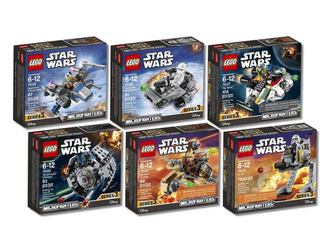 LEGO Star Wars Microfighter Series 3 (75125,75126,75127,75128,75129,75130)